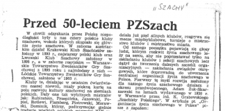 Historia obchodów rocznic PZSzach